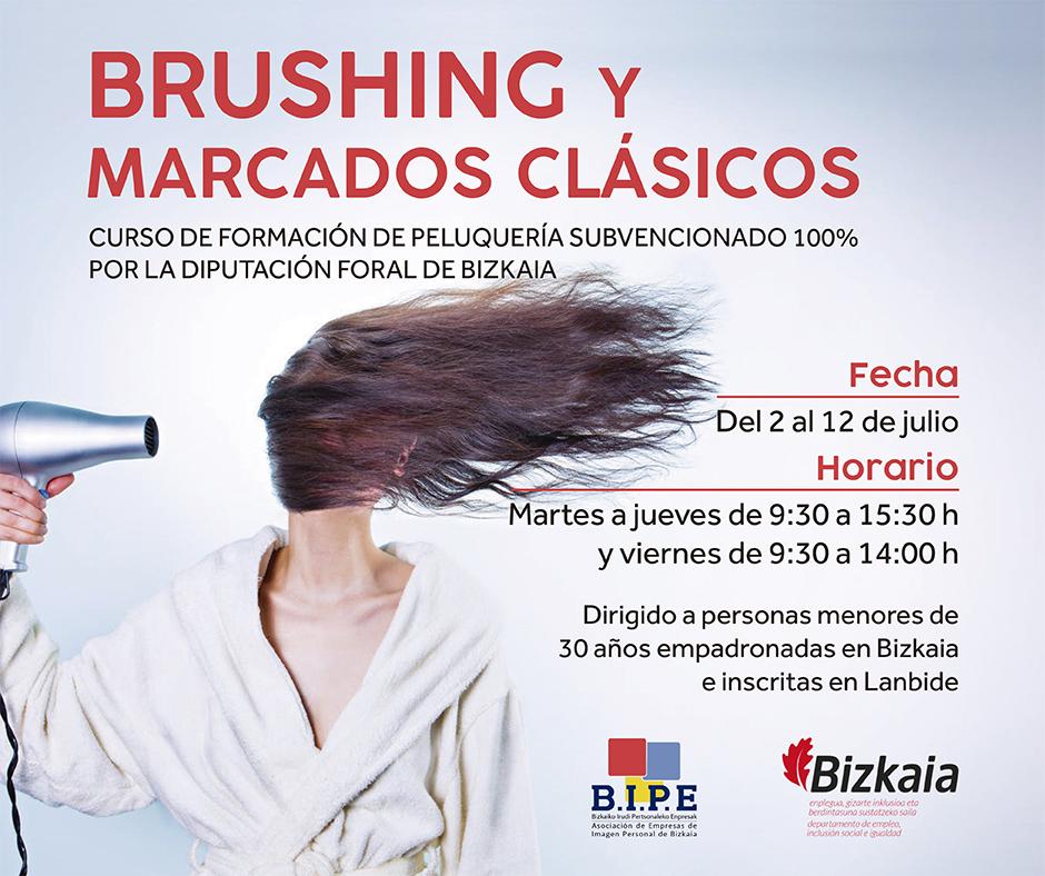 Curso Brushing Y Marcados Clasicos Bipe Bizkaia Asociacion De Empresas De Imagen Personal De Bizkaia